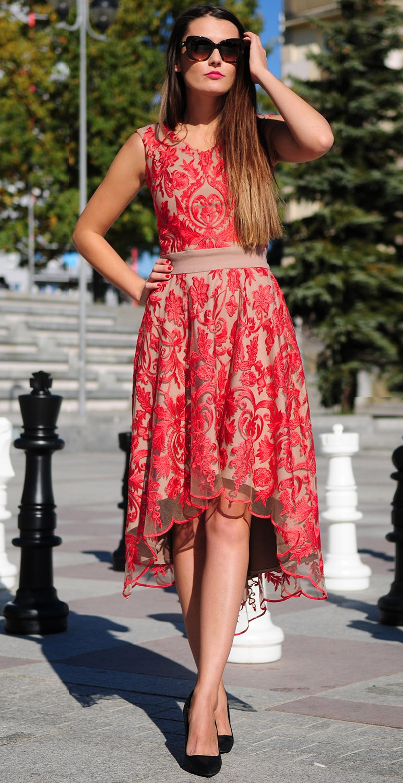 Sukienka koronkowa midi...