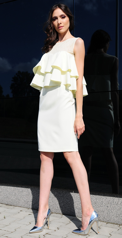 Sukienka z falbanami model 368