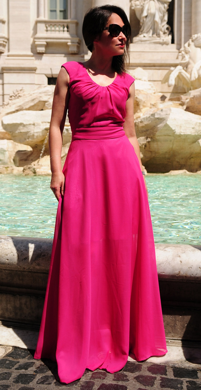 Suknia szyfonowa model 335A